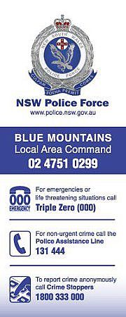 Blue Mtns Police Local Area Command on Facebook