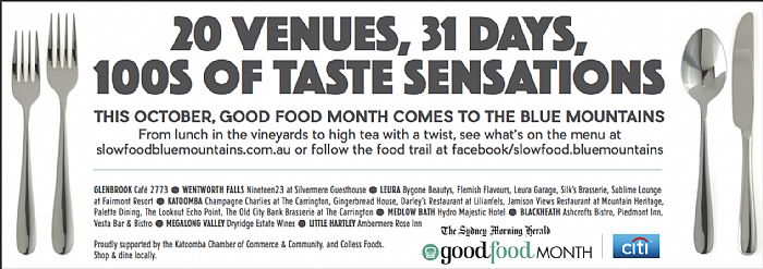 Good Food Month in the Blue Mountains